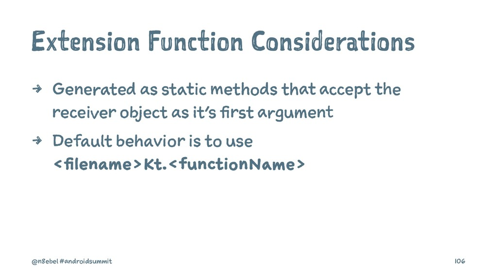Extension Function Considerations 4 Generated a...
