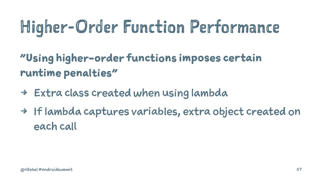 "Higher-Order Function Performance ""Using higher..."