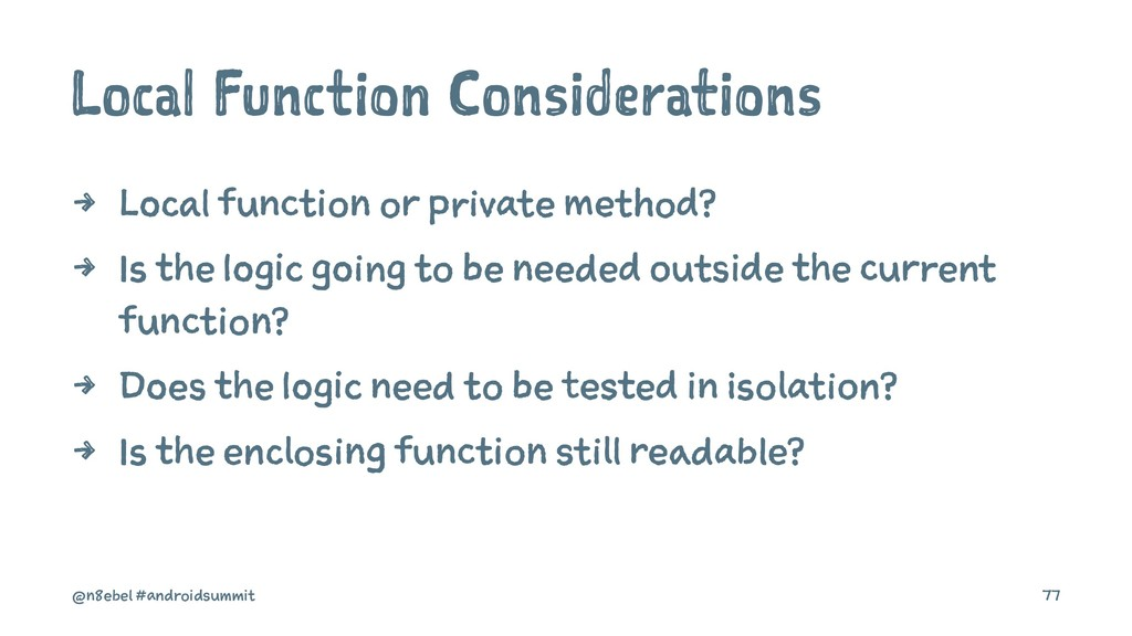 Local Function Considerations 4 Local function ...