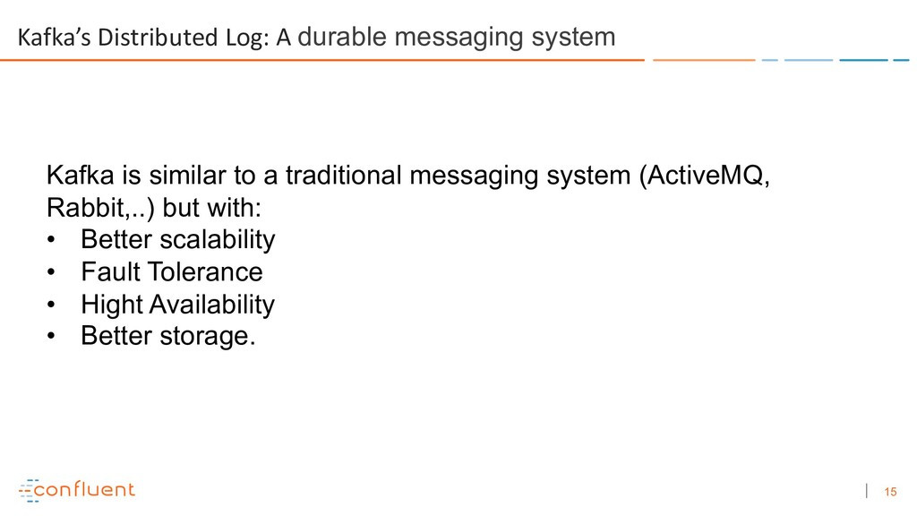 15 Kafka's Distributed Log: A durable messaging...