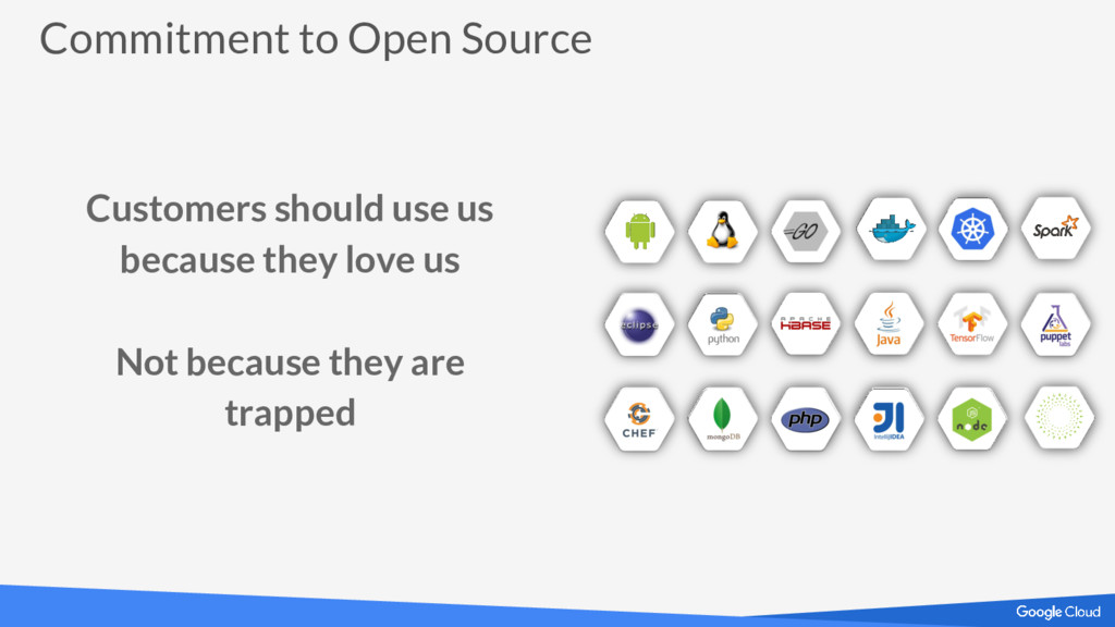 Commitment to Open Source Customers should use ...