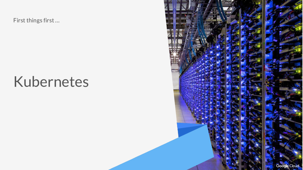 First things first … Kubernetes