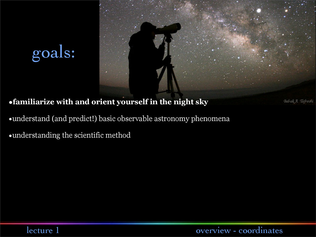 lecture 1 overview - coordinates goals: •famili...