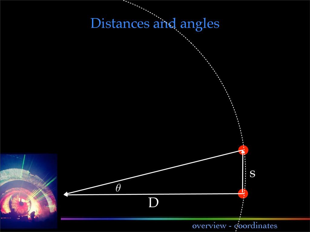 lecture 1 overview - coordinates s D Distances ...