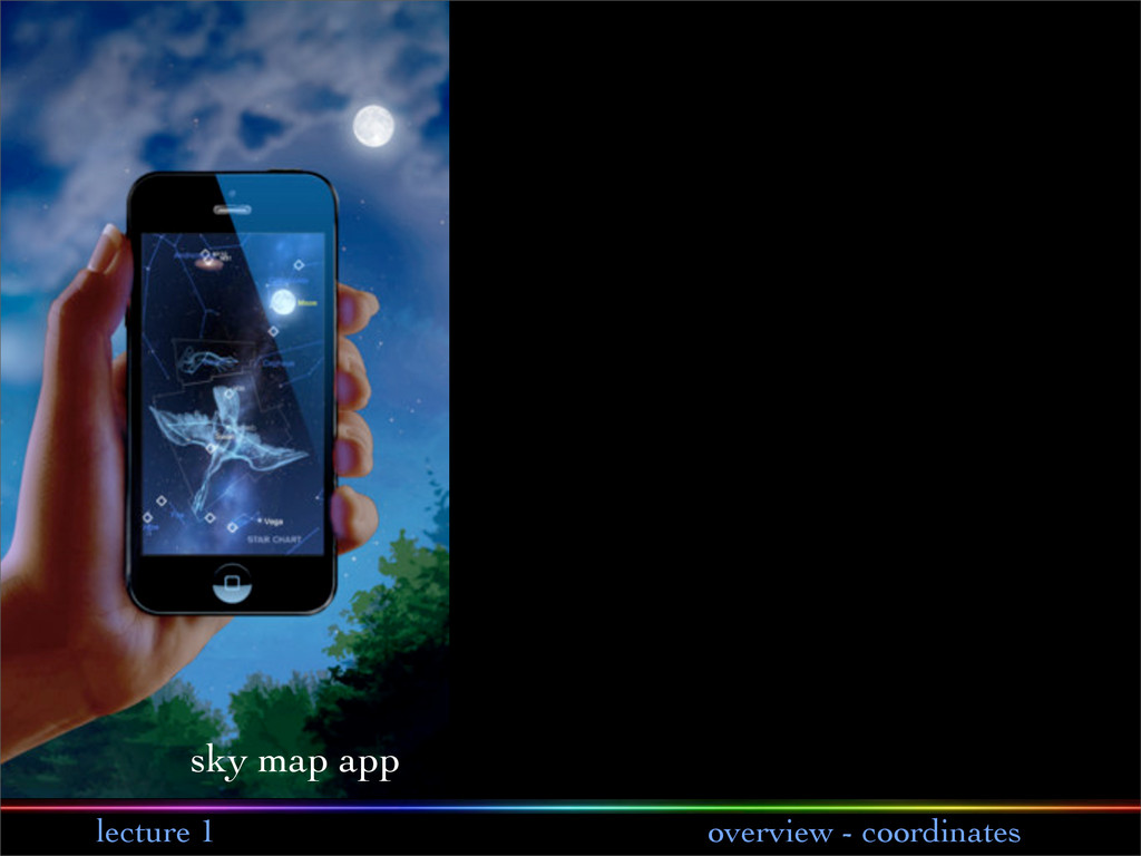 lecture 1 overview - coordinates sky map app
