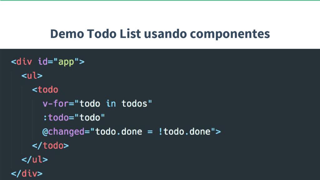 Demo Todo List usando componentes