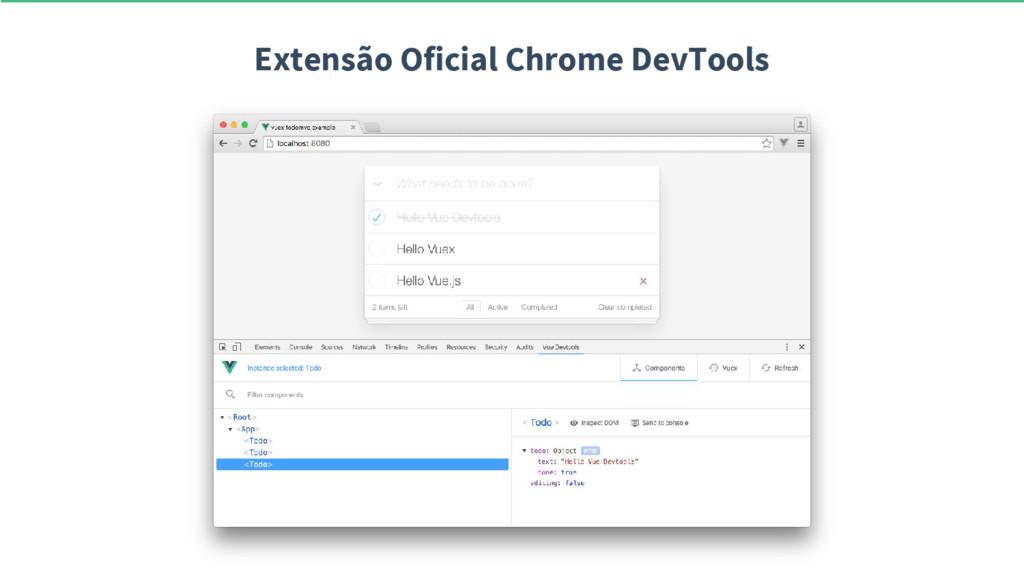Extensão Oficial Chrome DevTools