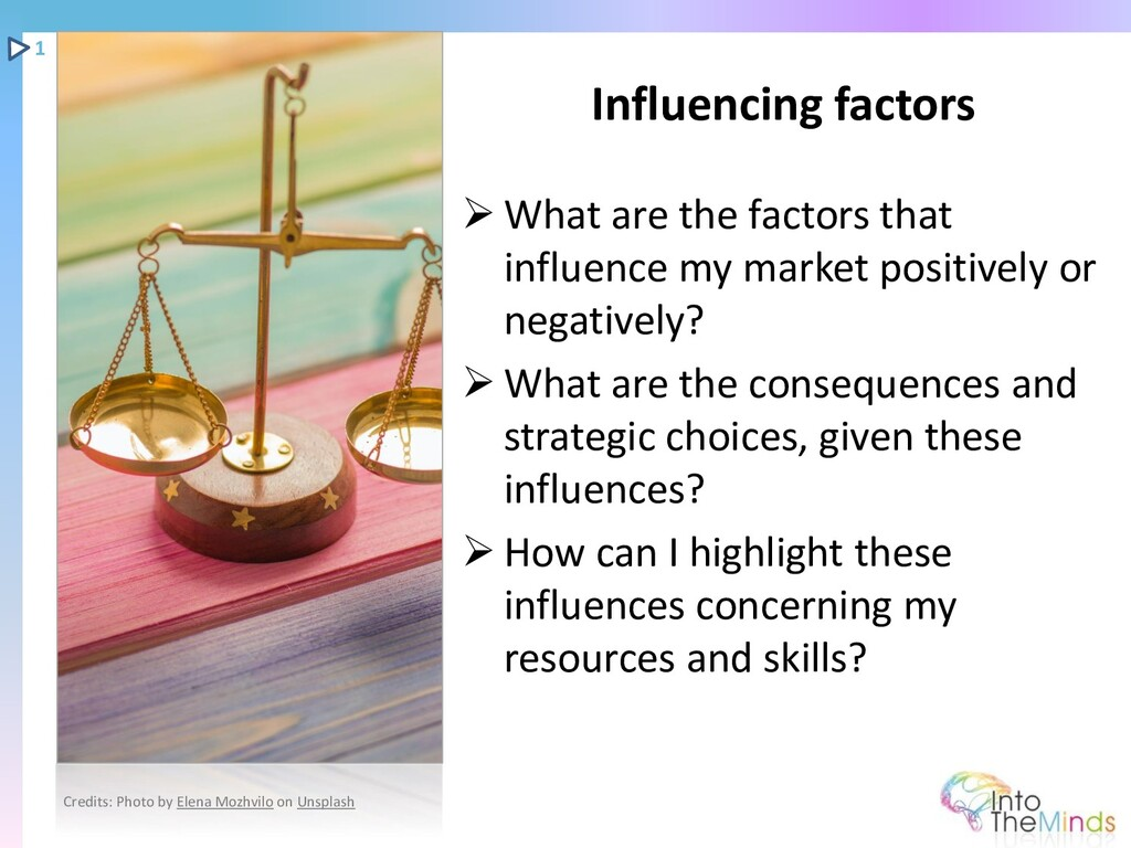 ➢ What are the factors that influence my market...