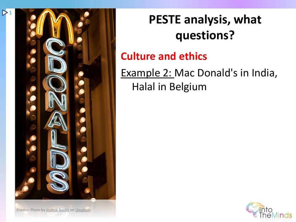 Culture and ethics Example 2: Mac Donald's in I...