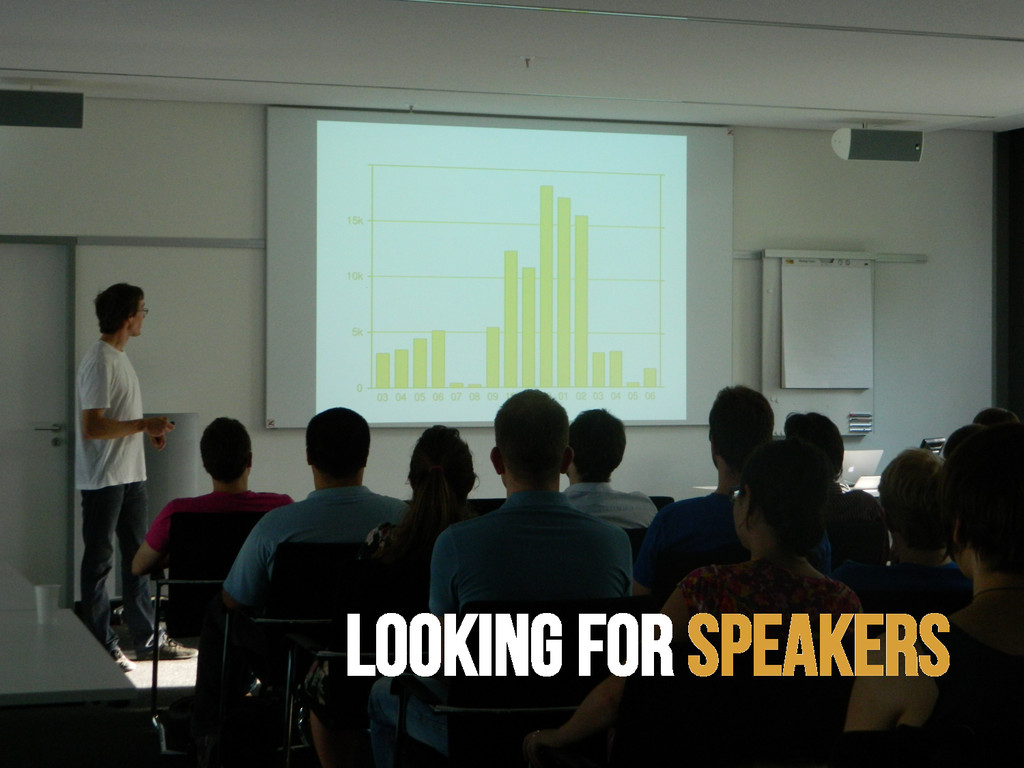 Looking for speakers