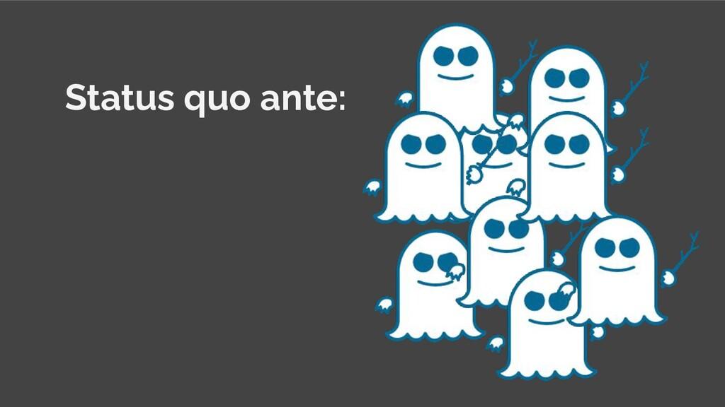 Status quo ante: