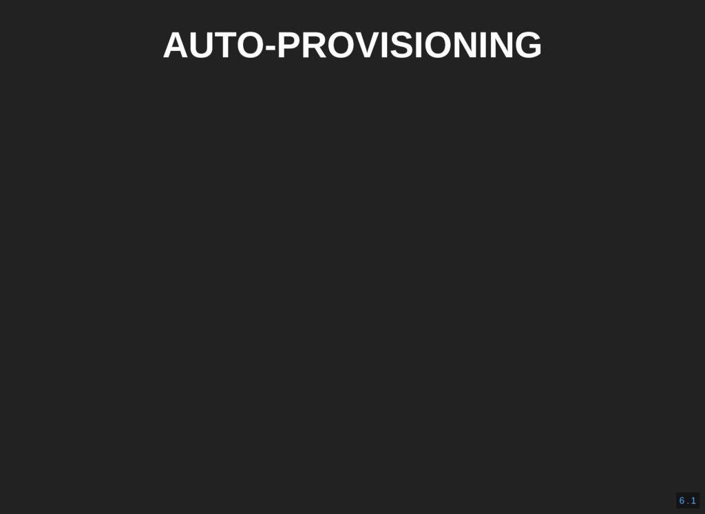 AUTO-PROVISIONING 6 . 1