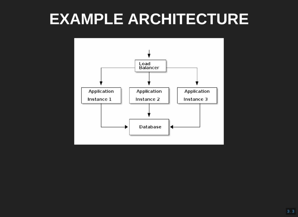 EXAMPLE ARCHITECTURE 3 . 3