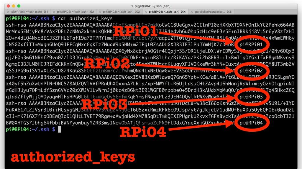 RPi01 RPi02 RPi03 RPi04 authorized_keys