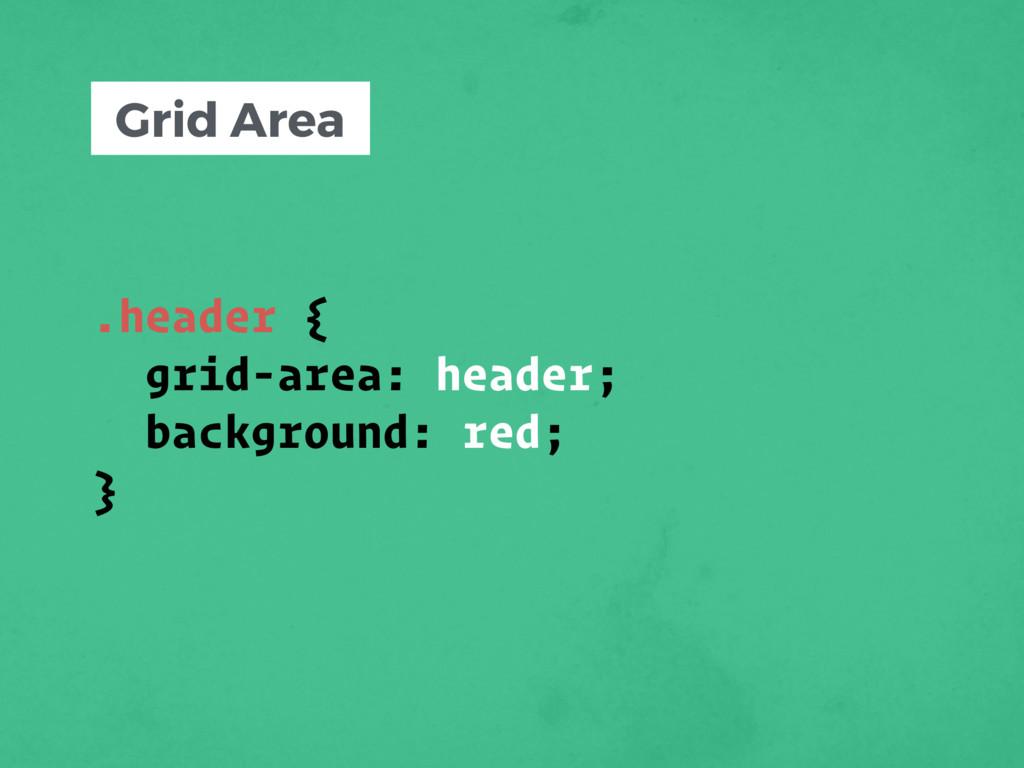 .header { grid-area: header; background: red; }...