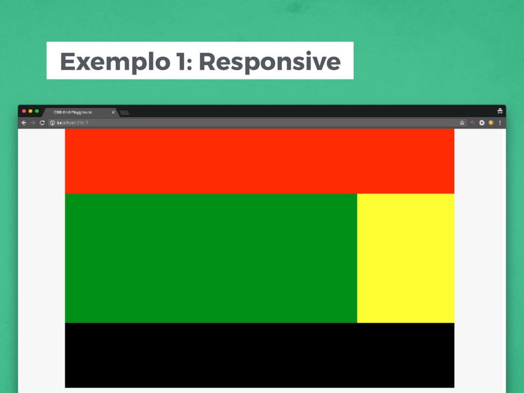 Exemplo 1: Responsive