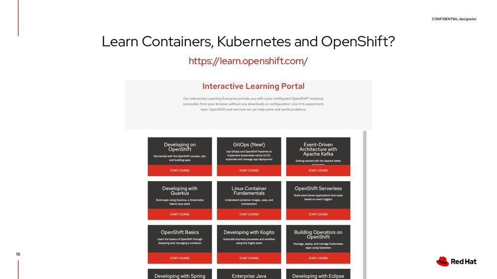 CONFIDENTIAL designator 16 Learn Containers, Ku...
