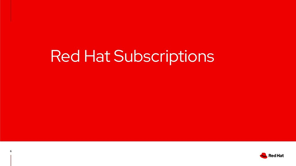 Red Hat Subscriptions 6