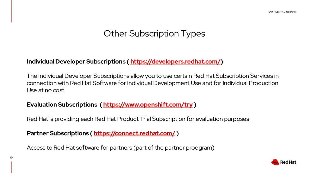 CONFIDENTIAL designator 10 Other Subscription T...