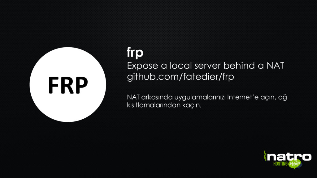 frp Expose a local server behind a NAT github.c...