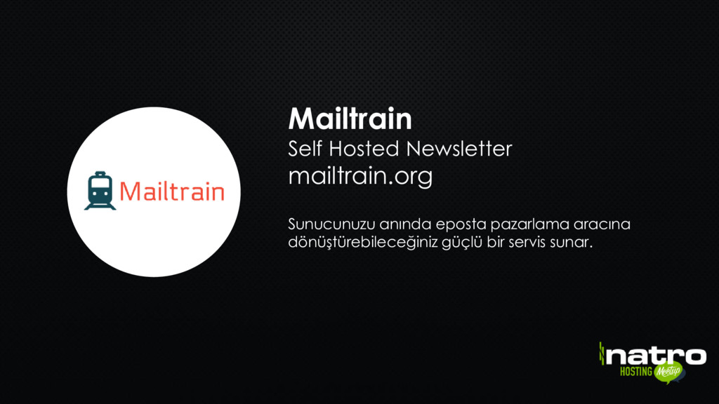 Mailtrain Self Hosted Newsletter mailtrain.org ...