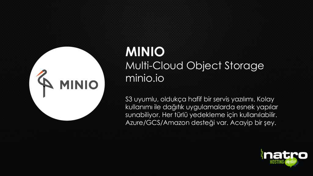 MINIO Multi-Cloud Object Storage minio.io S3 uy...