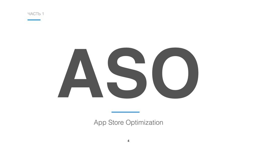 ЧАСТЬ 1 4 ASO App Store Optimization