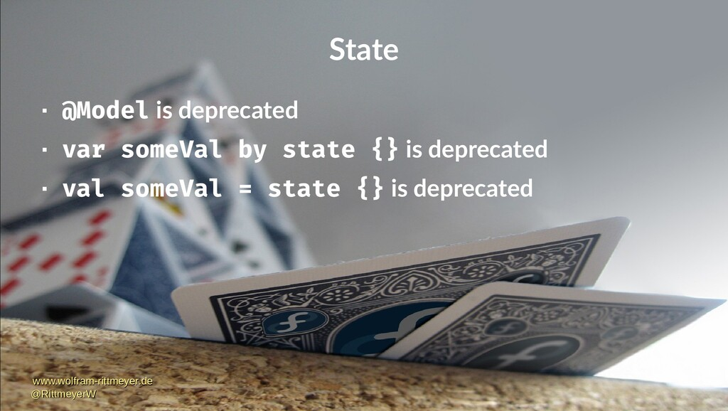State  @Model is deprecated  var someVal by s...