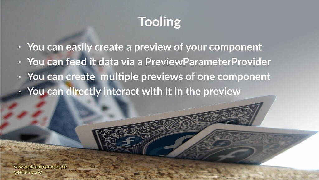 Tooling  You can easily create a preview of yo...