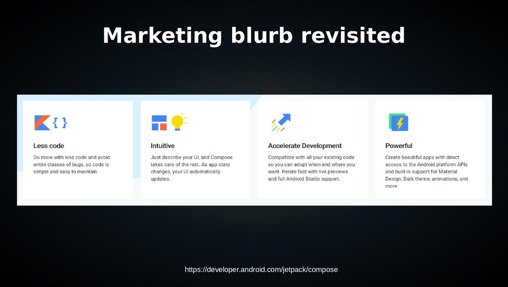 Marketing blurb revisited https://developer.and...