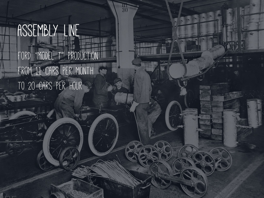 """Assembly line Ford """"Model T"""" production From 11..."""