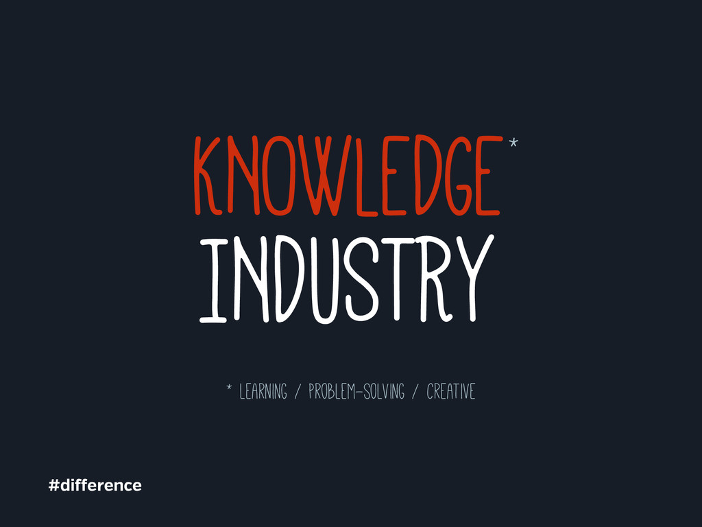 INDUSTRY KNOWLEDGE* #di erence * learning / pro...