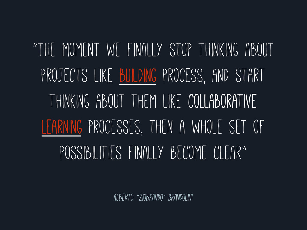 """""""the moment we finally stop thinking about proj..."""