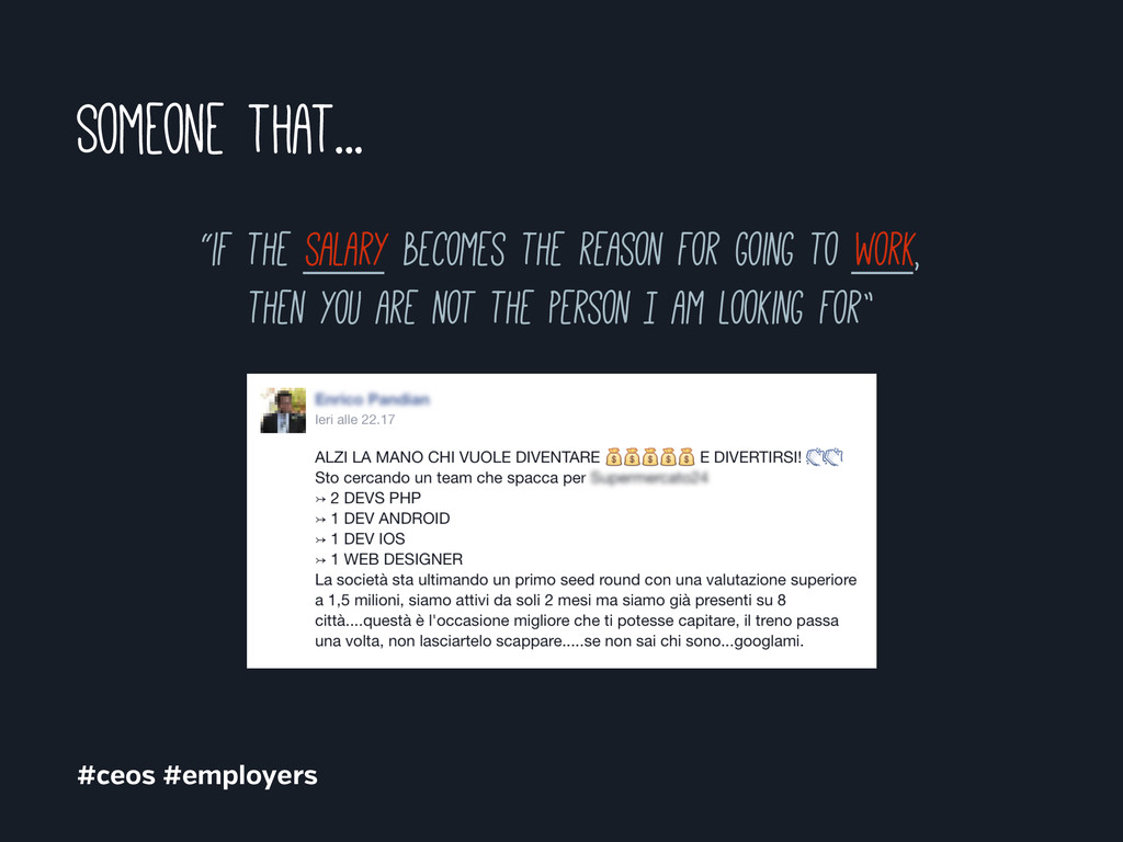 """Someone that... #ceos #employers """"if the salary..."""