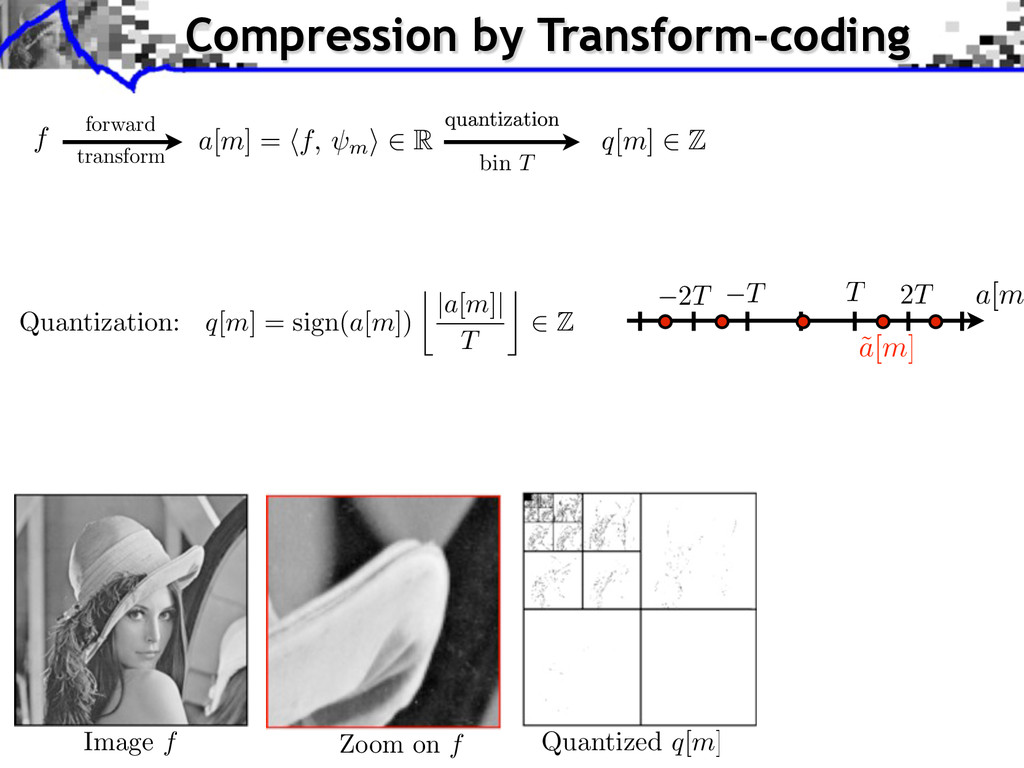 f forward Compression by Transform-coding a[m] ...