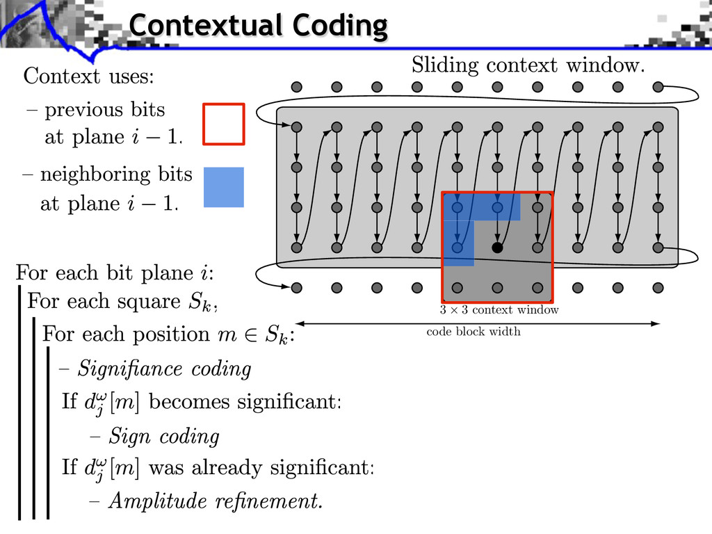 Contextual Coding code block width 3 × 3 contex...