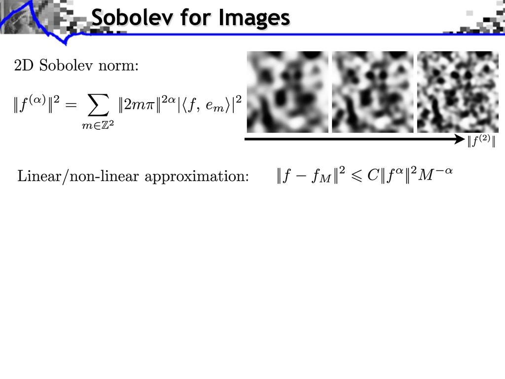 Sobolev for Images