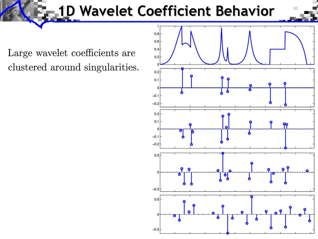 1D Wavelet Coefficient Behavior −0.2 −0.1 0 0.1...