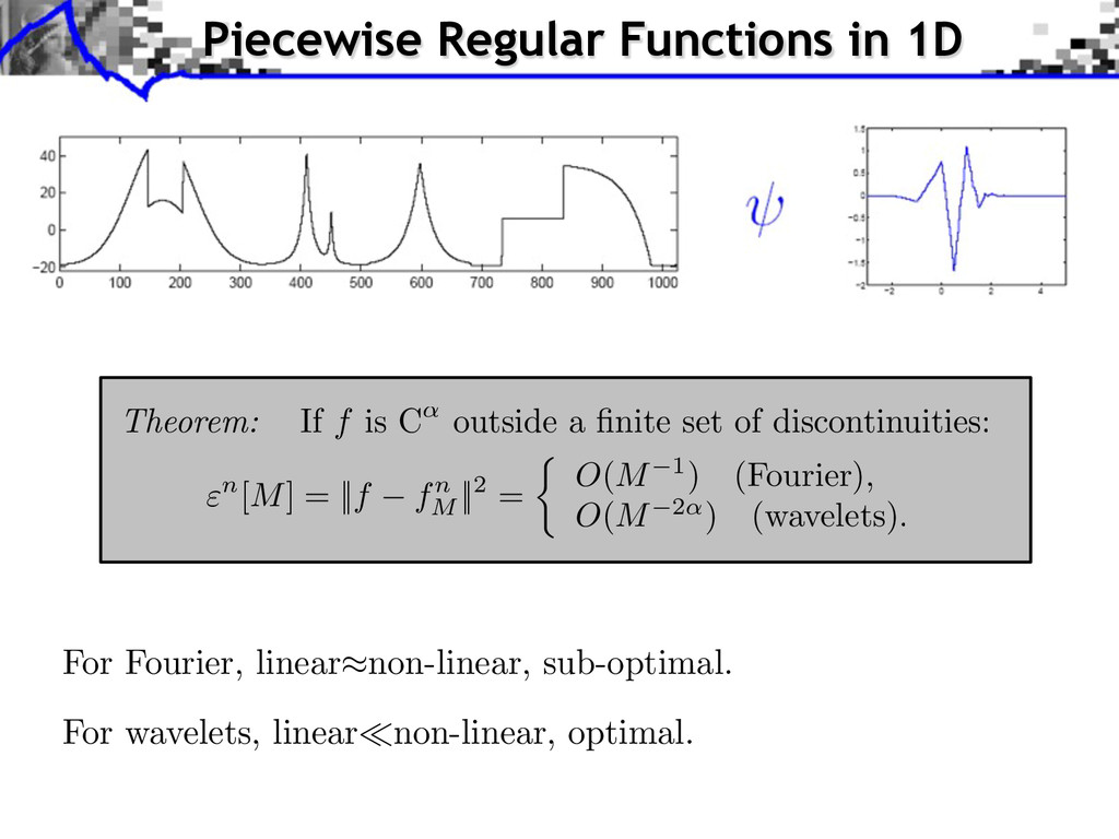 For Fourier, linear non-linear, sub-optimal. Fo...