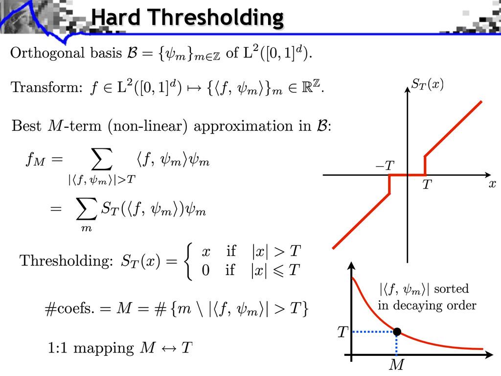 Hard Thresholding
