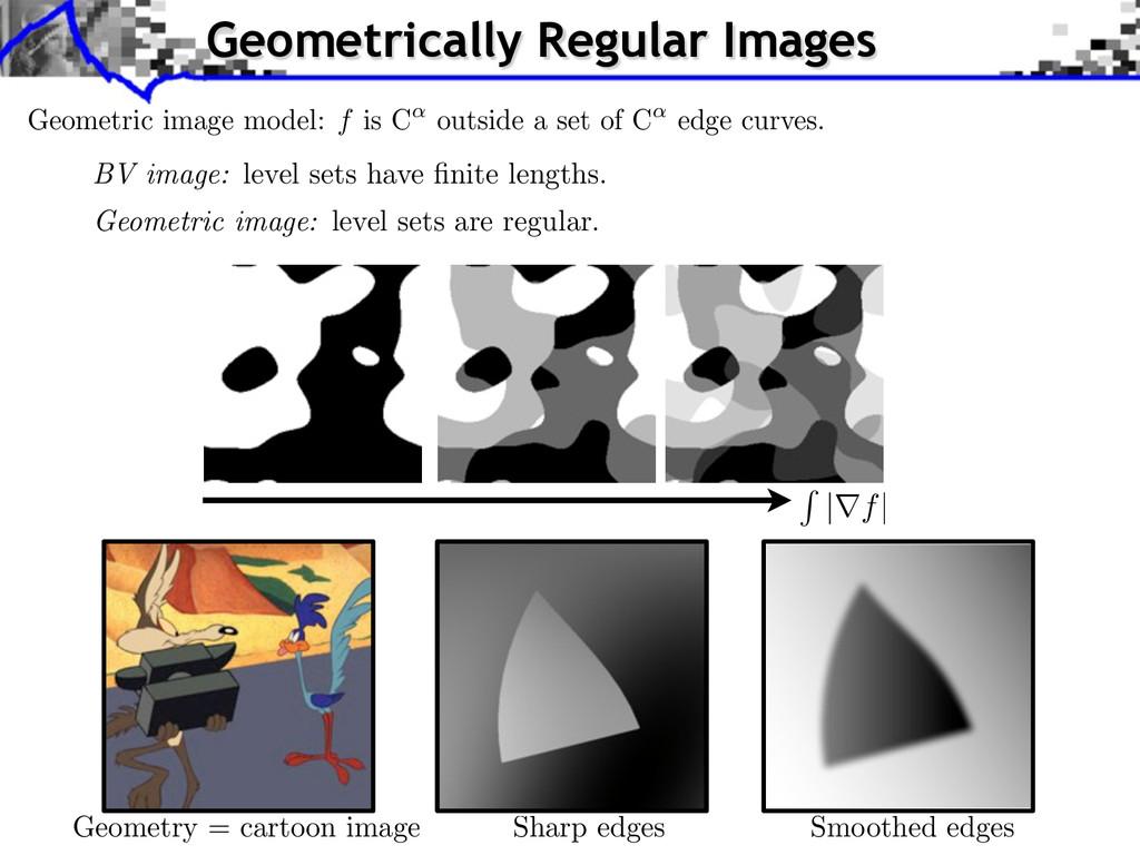 Geometric image model: f is C outside a set of ...