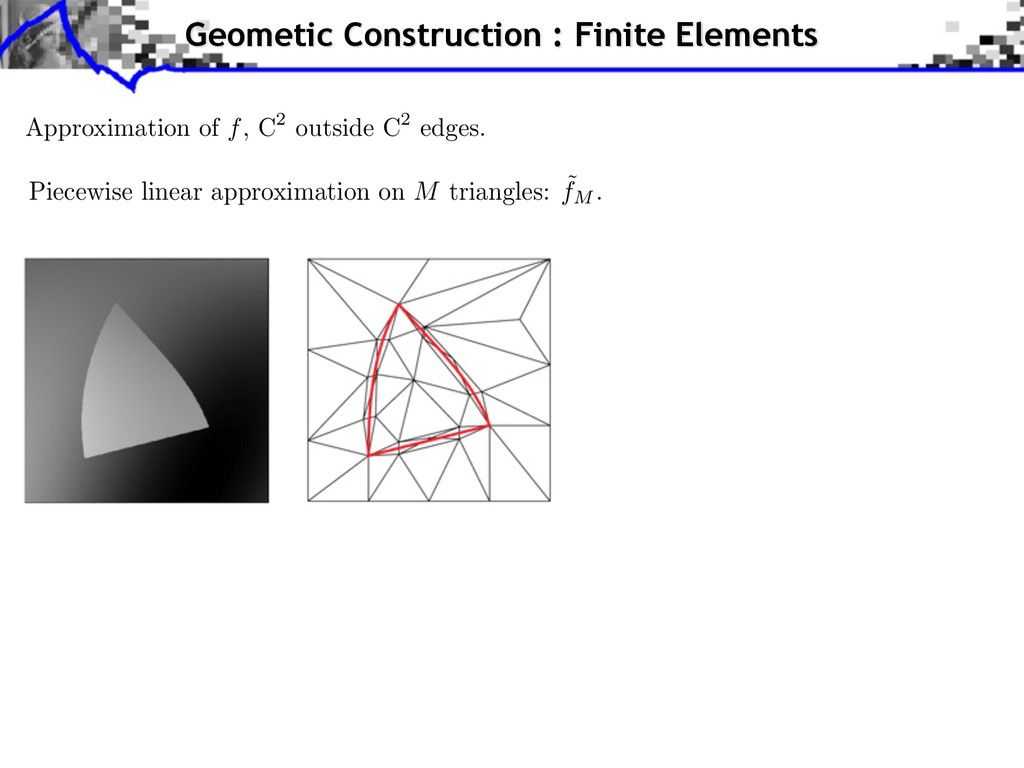 Approximation of f, C2 outside C2 edges. Piecew...