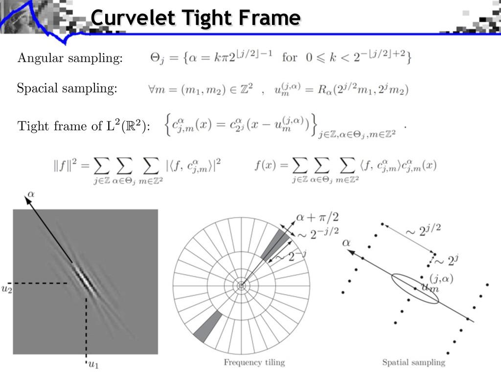 Curvelet Tight Frame Spacial sampling: Tight fr...