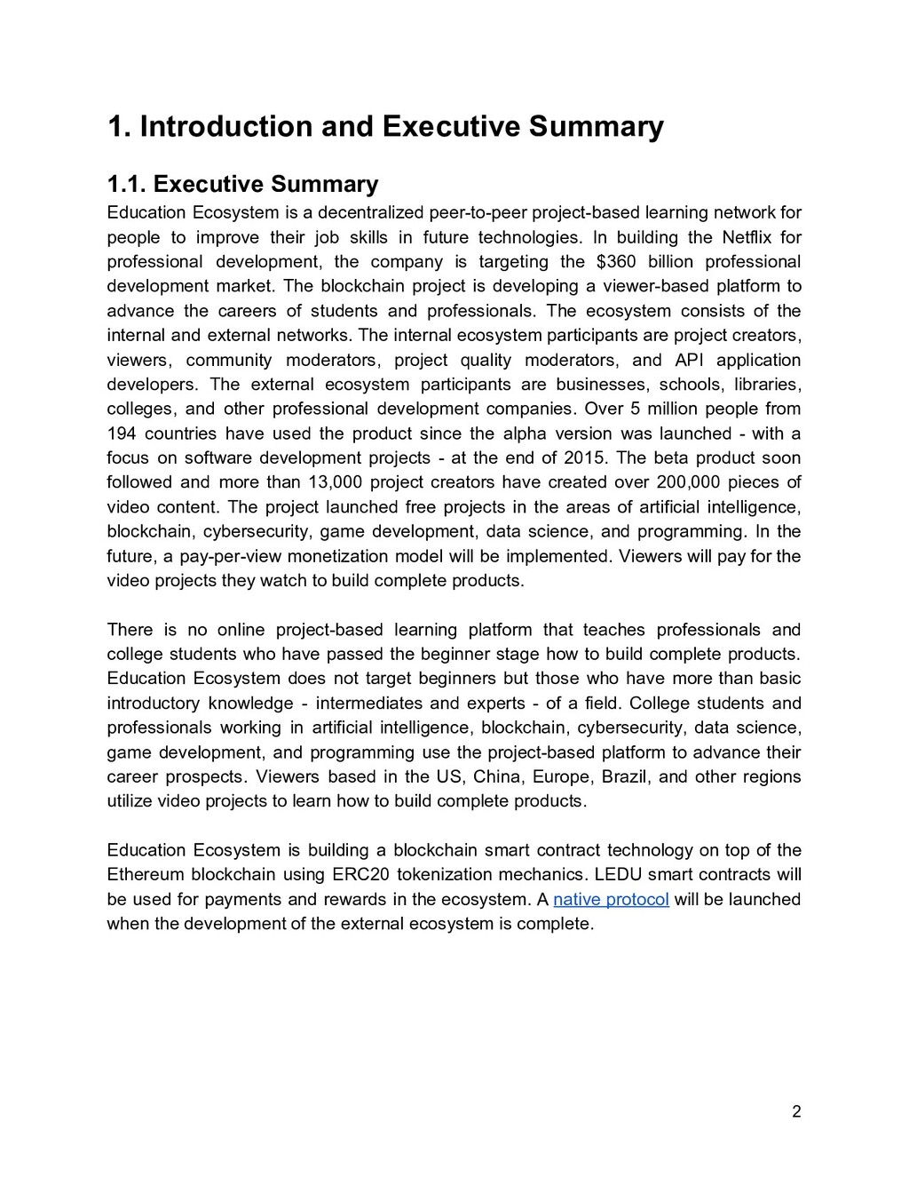 1. Introduction and Executive Summary 1.1. Exec...