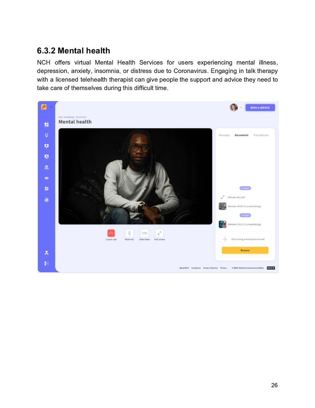 6.3.2 Mental health NCH offers virtual Mental H...