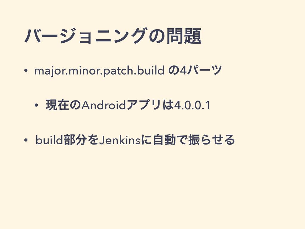 όʔδϣχϯάͷ • major.minor.patch.build ͷ4ύʔπ • ݱࡏ...
