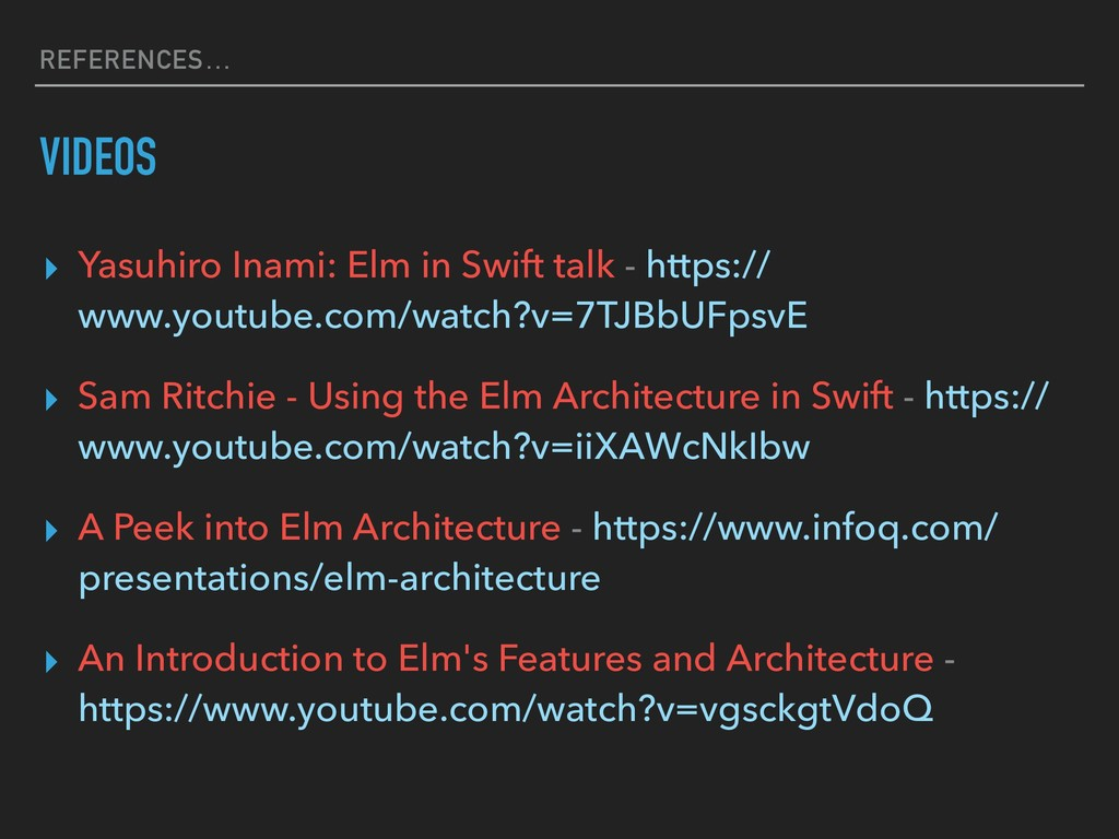 REFERENCES… VIDEOS ▸ Yasuhiro Inami: Elm in Swi...
