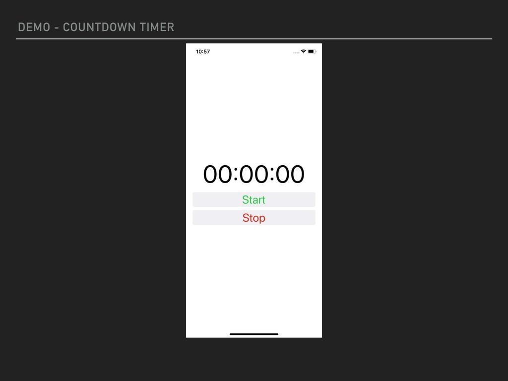 DEMO - COUNTDOWN TIMER