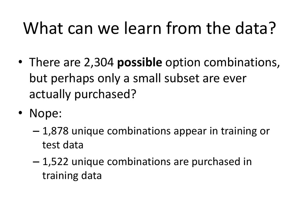 What can we learn from the data? • There are 2,...