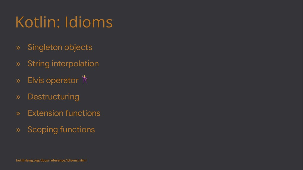 Kotlin: Idioms » Singleton objects » String int...